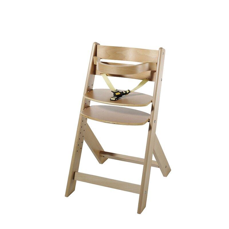 Schardt 11-fach höhenverstellbarer Treppenhochstuhl 'Domino' mit Sicherheitsbügel und 3-Punkt-Gurt