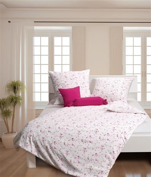 Janine Mako Soft Seersucker Bettwäsche 4 Teilig Bettbezug 135 X 200 Cm Kopfkissenbezug 80 X 80 Cm Tango Rosa