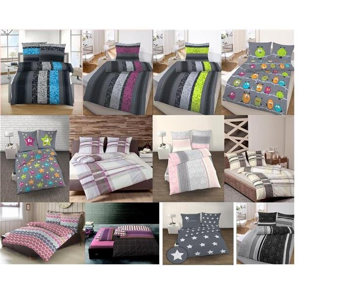 bettw sche biber 2 teilig bettbezug 135x200 oder 155x220 als set mit. Black Bedroom Furniture Sets. Home Design Ideas