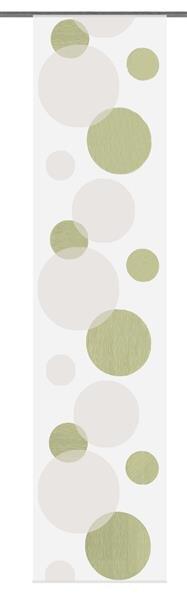 Flächenvorhang mit grünen Punkten