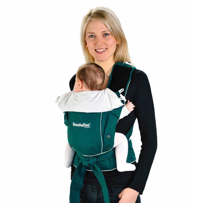 Hoppediz 'Bondolino' Babytrage - die Komforttrage für die Bauch- und Rückentrageweise